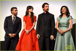 "TORONTO, ON - SEPTEMBER 11: (L-R) Actors Oscar Isaac, Charlotte Le Bon, Christian Bale and Shohreh Aghdashloo attend the ""The Promise"" premiere during the 2016 Toronto International Film Festival at Roy Thomson Hall on September 11, 2016 in Toronto, Canada. (Photo by Kevin Winter/Getty Images)"