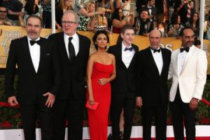 (L-R) Actors Mandy Patinkin, Tracy Letts, Nazanin Boniadi, Jackson Pace, F. Murray Abraham and Navid Negahban attend the 20th Annual Screen Actors Guild Awards at The Shrine Auditorium on January 18, 2014 in Los Angeles, California. - 20th Annual Screen Actors Guild Awards (Image Credit / Getty)