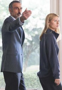 Shaun Toub and Claire Danes in Homeland (Image Credit / Showtime)